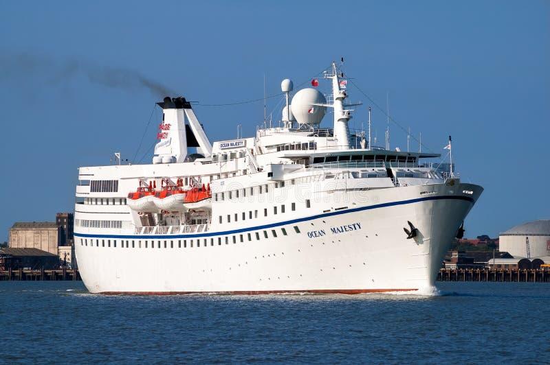 MS Ocean Majesty do navio de cruzeiros fotografia de stock
