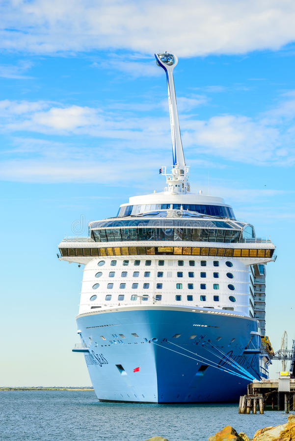 MS Ovation of the Seas cruise ship. Port Adelaide, South Australia, February 14, 2017: MS Ovation of the Seas cruise ship docked at Outer Harbour. It is third stock images