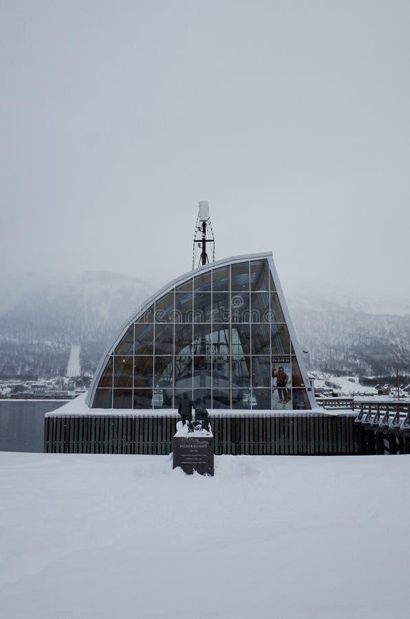 Ms Polstjerna, museo en Tromso, Noruega fotos de archivo libres de regalías