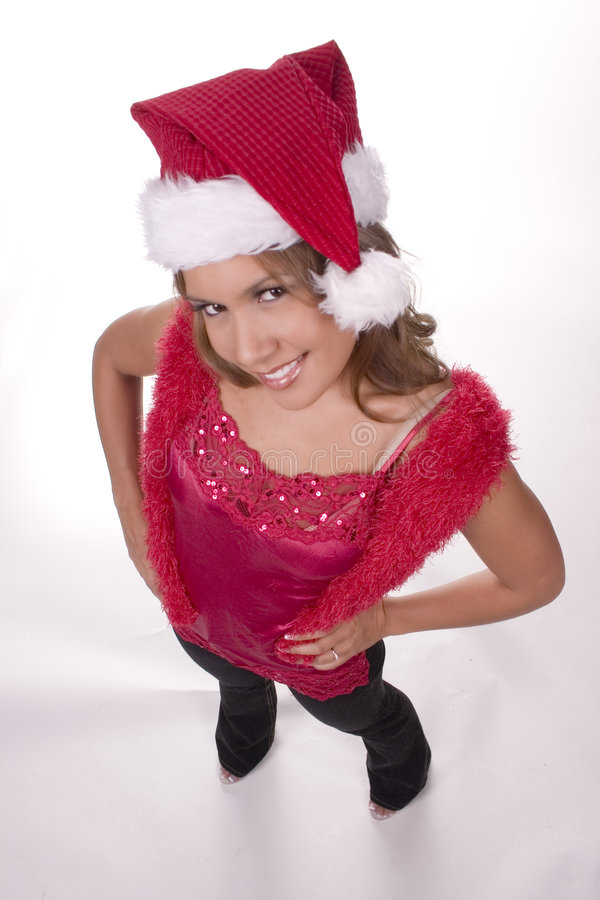 Download Ms. Santa stock image. Image of jingle, giving, beautiful - 323475
