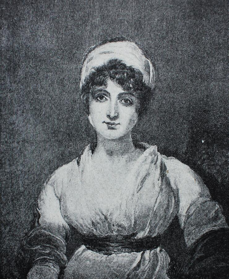 Free Ms. Siddons By Lawrence In The Vintage Book The Painting History, By R. Muter, 1900 Royalty Free Stock Photos - 180165308