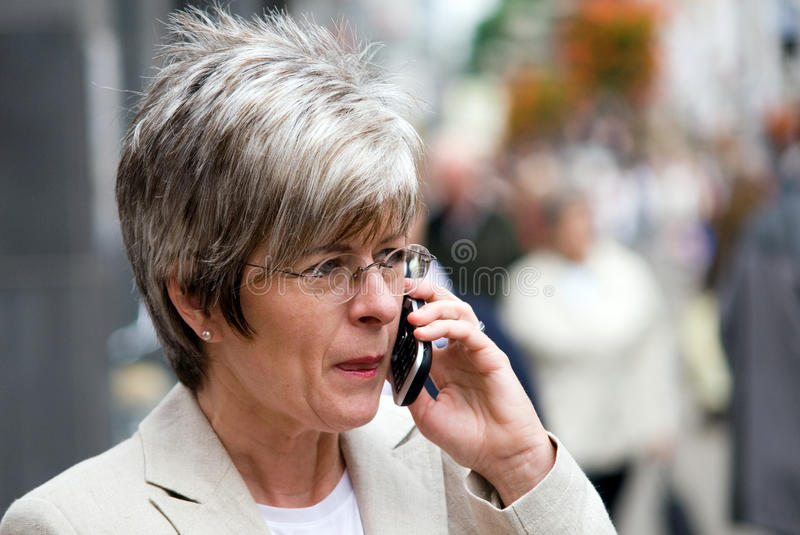 Download Ms telephone users stock image. Image of glasses, short - 12404373