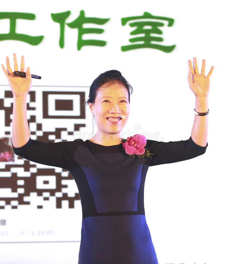 Ms ye tan wave to the public royalty free stock images