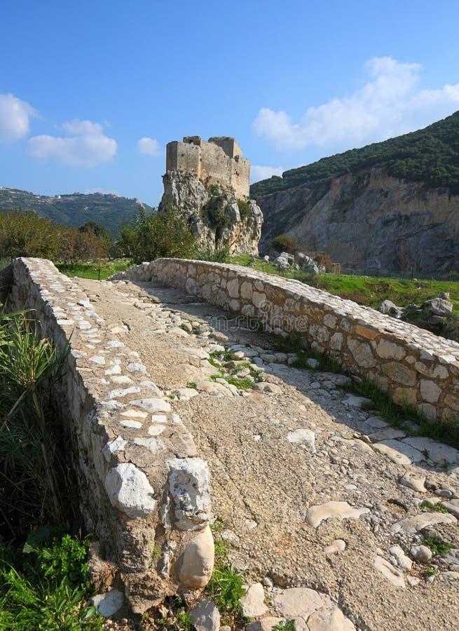 Msailha Bridge and Fort, Lebanon royalty free stock photos