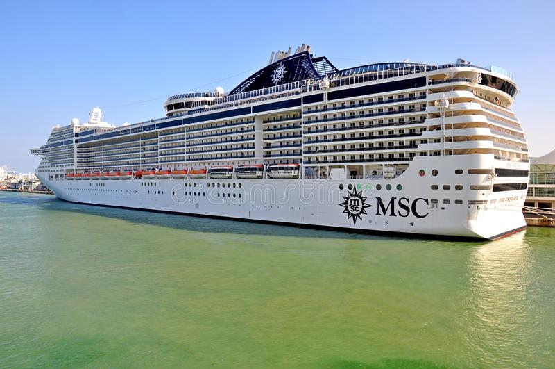 MSC Divina in Miami stock photography
