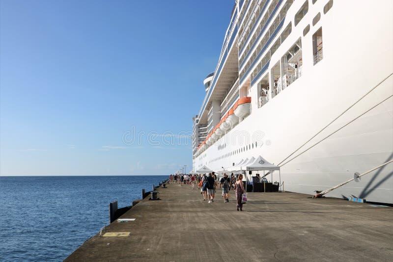 Msc Fantasia κρουαζιερόπλοιων στο ST George ` s, Γρενάδα στοκ εικόνες