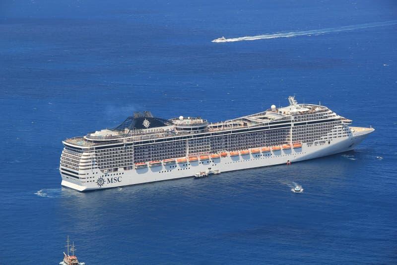 MSC fantazi statek wycieczkowy obraz stock