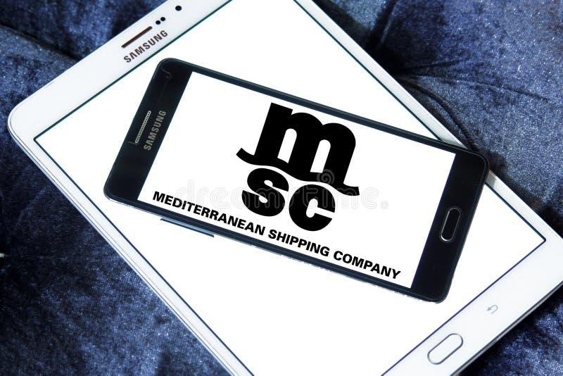 Msc towarzystwa żeglugowe logo zdjęcie royalty free