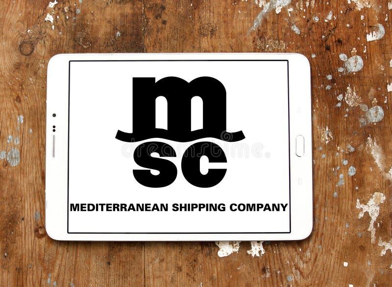 Msc towarzystwa żeglugowe logo fotografia stock