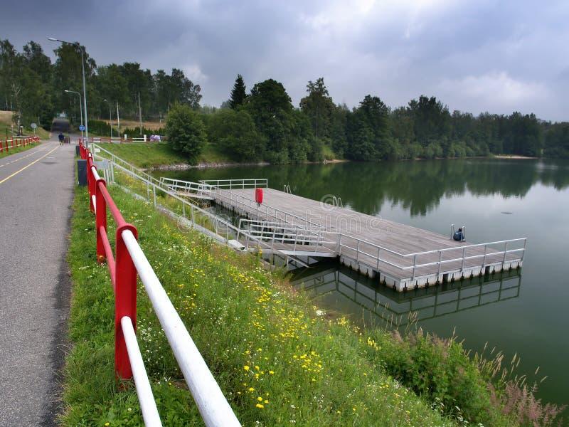 Mseno湖, Jablonec nad Nisou,捷克 免版税库存照片