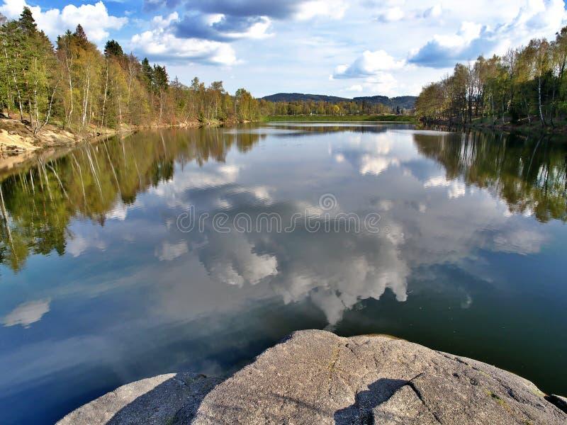 Mseno See, Jablonec nad Nisou, Tschechische Republik stockbild