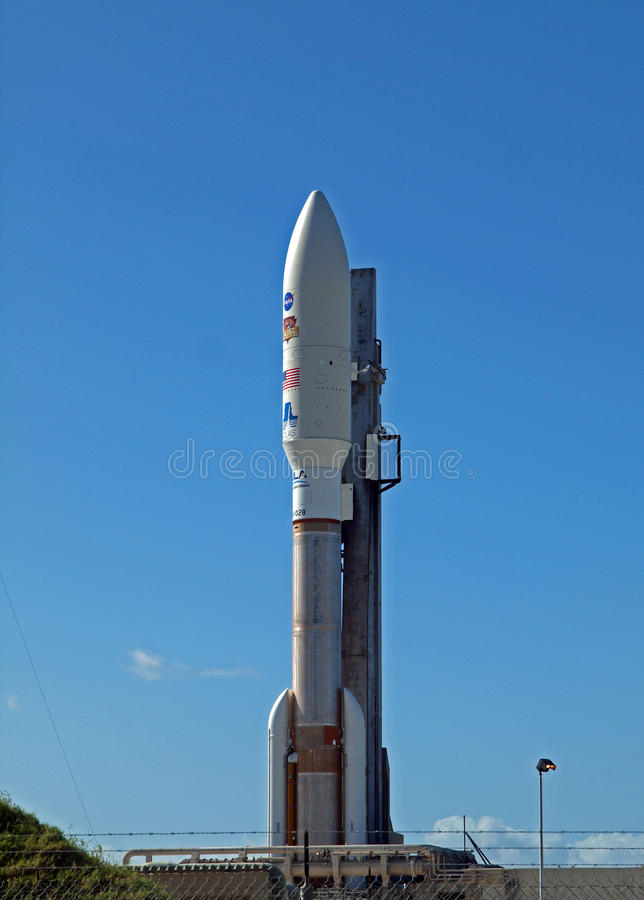 MSL en Atlas 5 Raket royalty-vrije stock foto