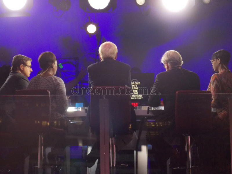 MSNBC Political Commentators Filming During DNC Convention royalty free stock images