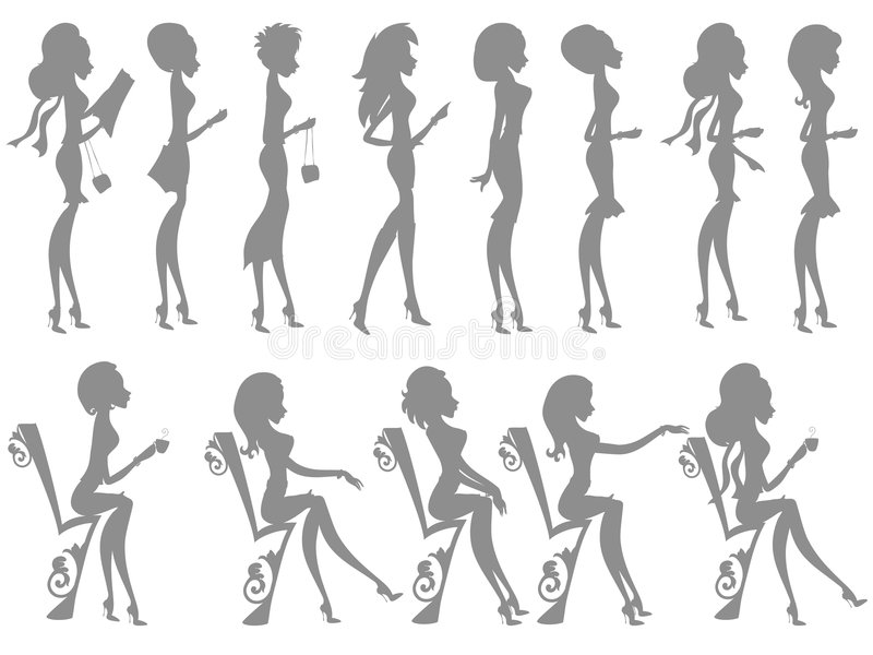 Mss Boo silhouettes vector illustration