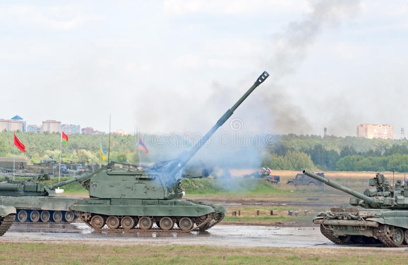 Download Msta-S Artillery Shoots Editorial Photography - Image: 26376622