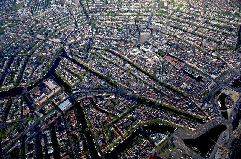Msterdam, vue aérienne du centr historique de ville photo stock