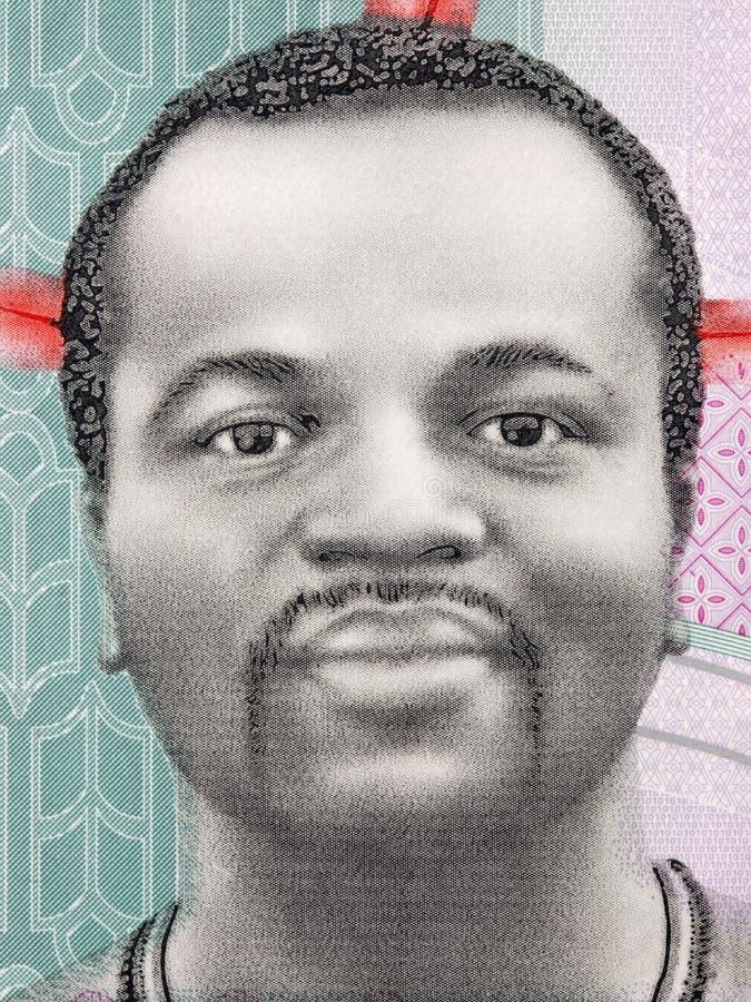 Mswati III, un portrait photos libres de droits