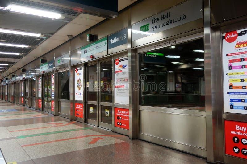 Mszalny Błyskawiczny transport w Singapur obraz stock