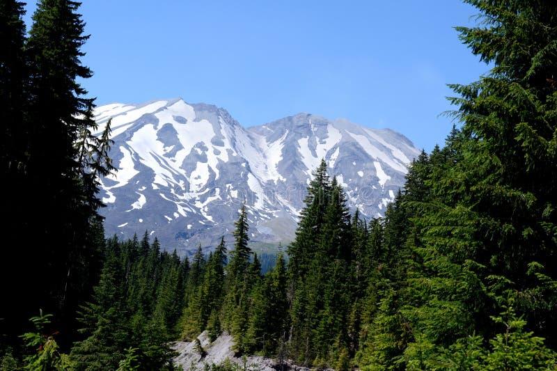 Mt圣Helens如被看见从南侧 库存照片