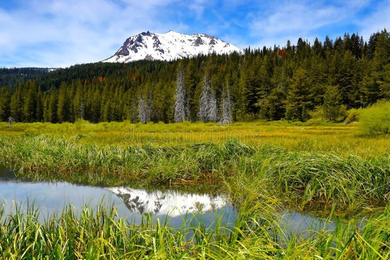 Mt拉森,拉森火山的国家公园,加利福尼亚 免版税图库摄影