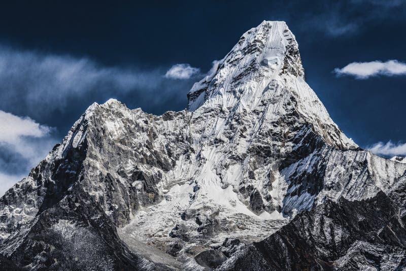 Mt阿玛达布拉姆峰峰顶 免版税库存照片