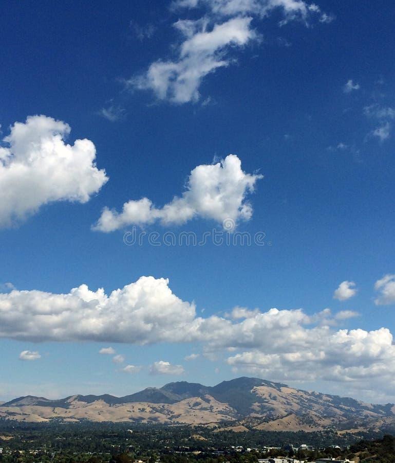 Mt Диабло на день облака стоковое фото rf