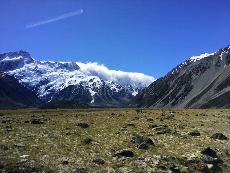 Mt 厨师在新西兰 库存图片