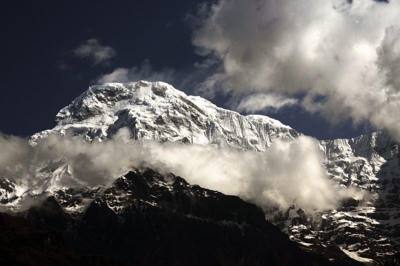 Mt 喜马拉雅山脉的楠达devi 库存图片