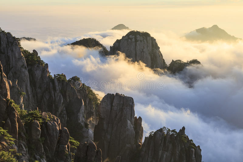Mt.黄山 免版税库存照片