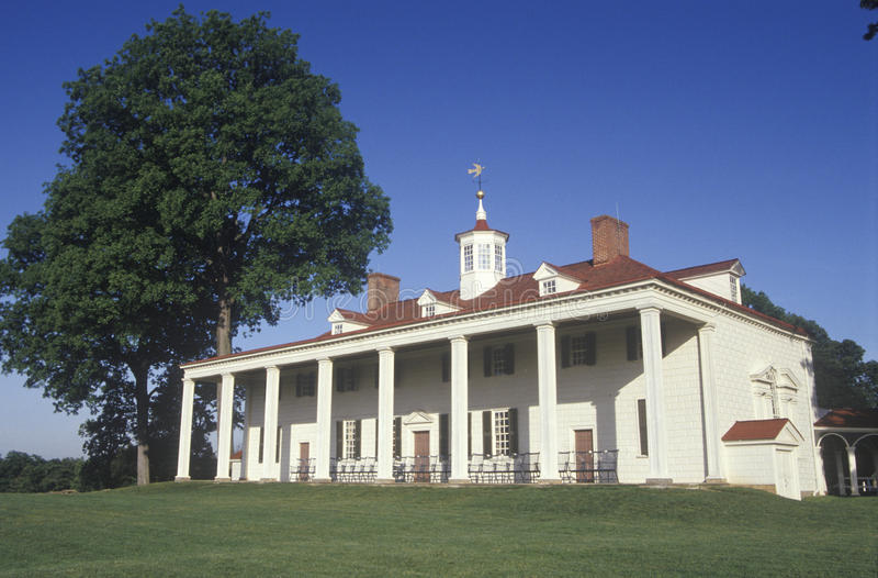 Mt.弗农外部 弗农,弗吉尼亚,乔治・华盛顿的家 免版税图库摄影