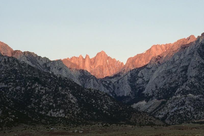 Mt.惠特尼,加利福尼亚 免版税库存图片