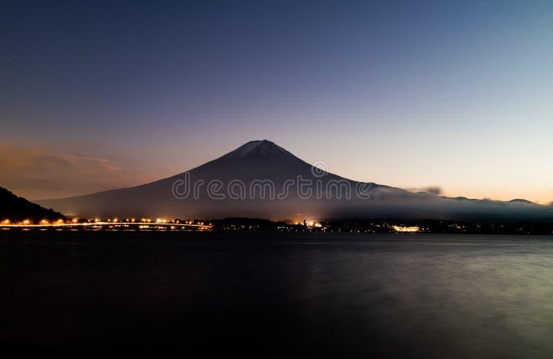 Mt 黄昏富士mt 免版税库存照片