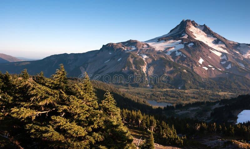 Mt.杰斐逊公园俄勒冈喀斯喀特山脉Mountian供徒步旅行的小道 免版税图库摄影