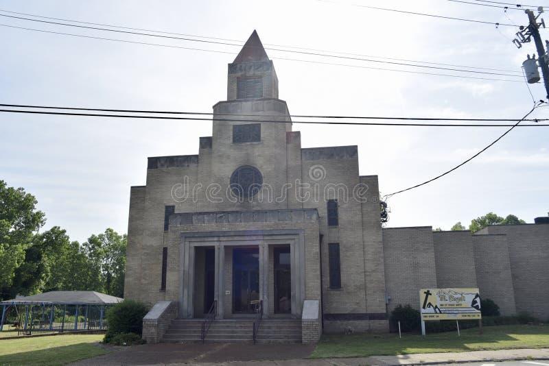 Mt 皮斯加施洗约翰教堂,孟菲斯,田纳西 库存照片