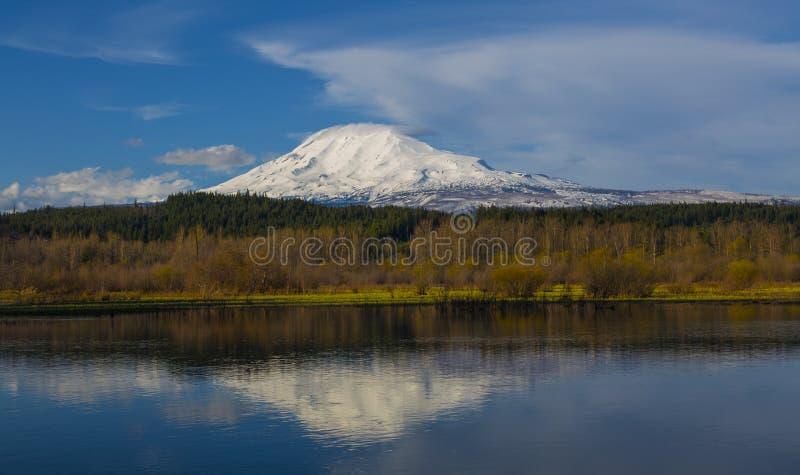 Mt Adams in Spring stock photo