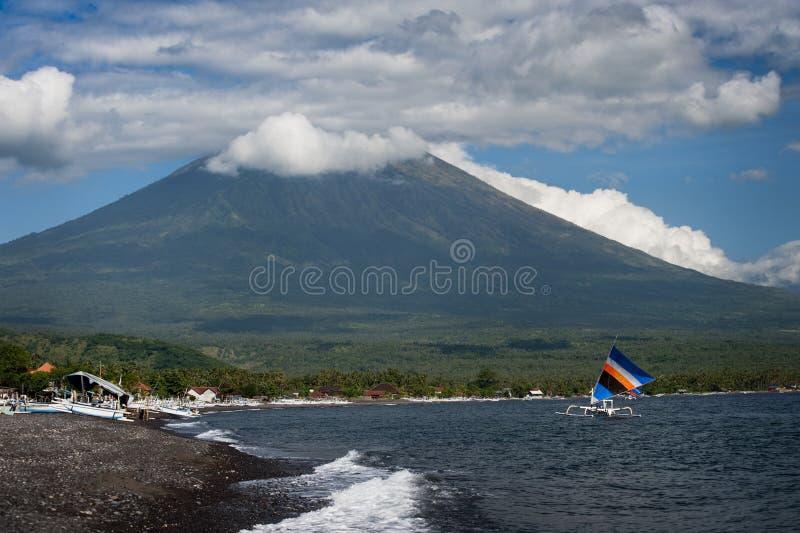 Mt. Agung, Amed, Bali. obraz royalty free