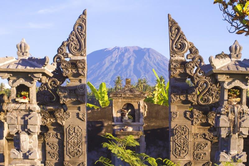 Mt. Agung, Amed, Bali. immagine stock libera da diritti