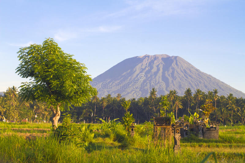 Mt. Agung, Amed, Bali. stock photo