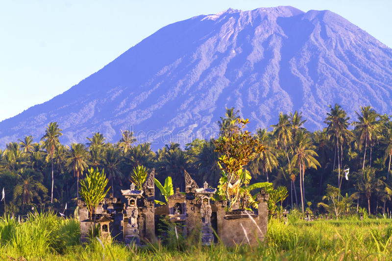 Mt. Agung, Amed, Bali. royalty free stock image