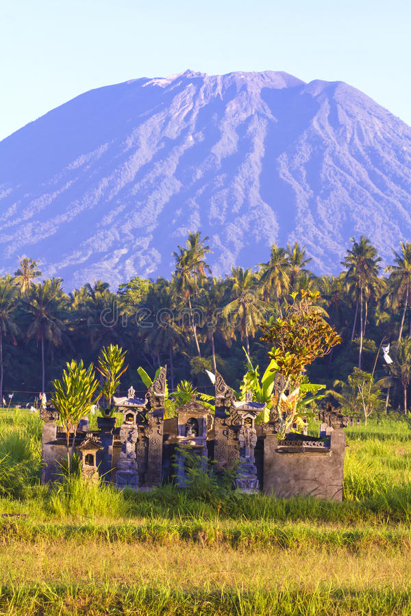 Mt. Agung, Amed, Bali. stock photography