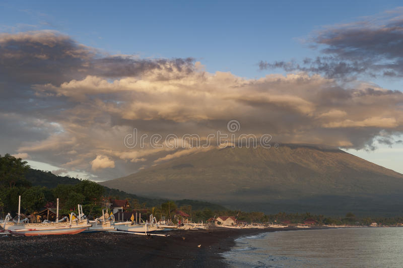 Mt. Agung, Bali, Indonesia royalty free stock photos