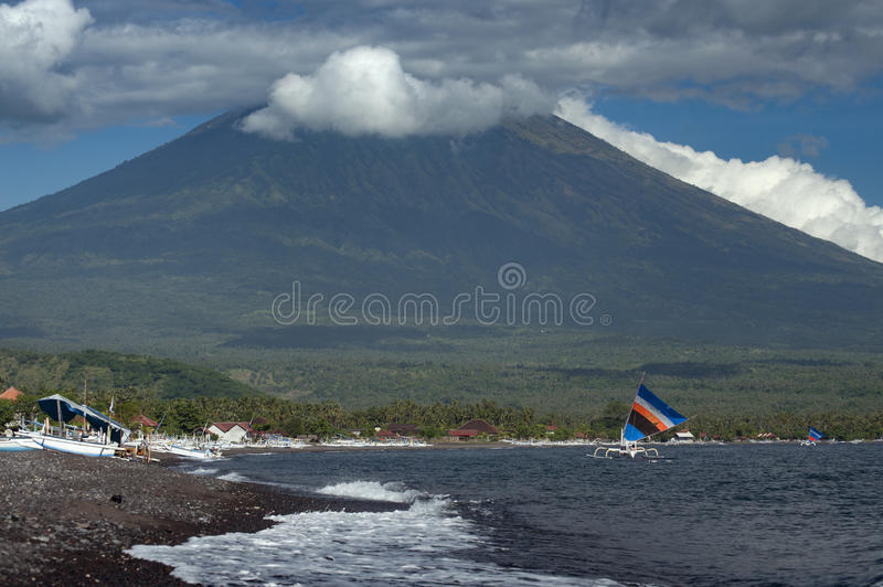 Mt. Agung, Bali, Indonesia royalty free stock photo