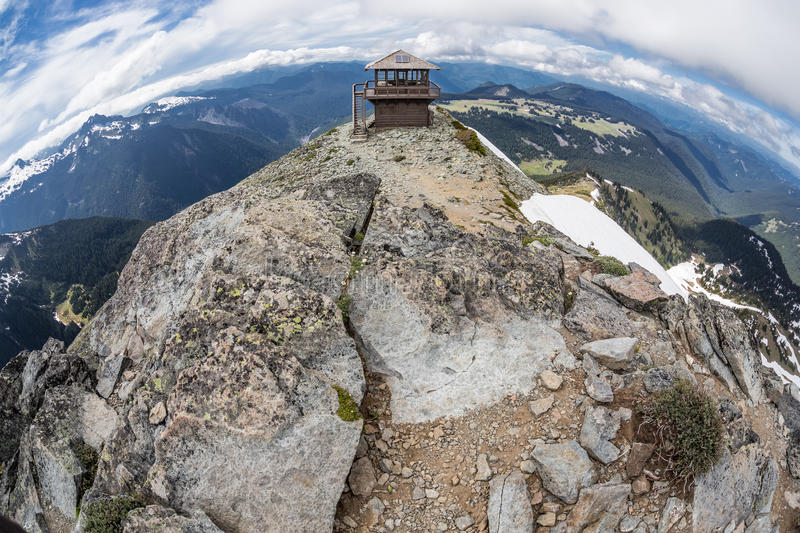 Mt Allerta di Freemont in Mt Rainier National Park, Washington immagine stock