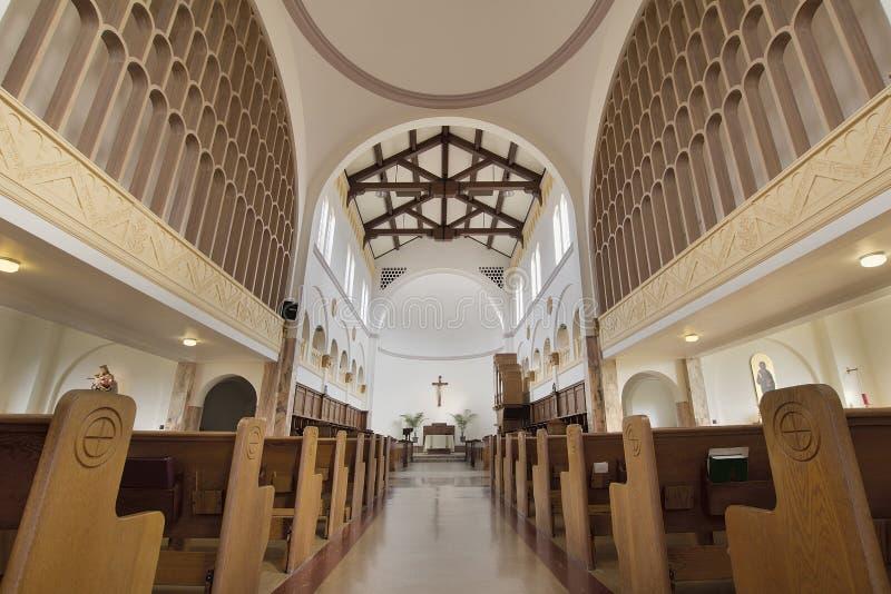 Mt Angel Abbey Church Interior stock image