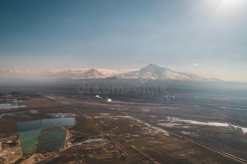 MT Ararat in Armeni? royalty-vrije stock afbeelding