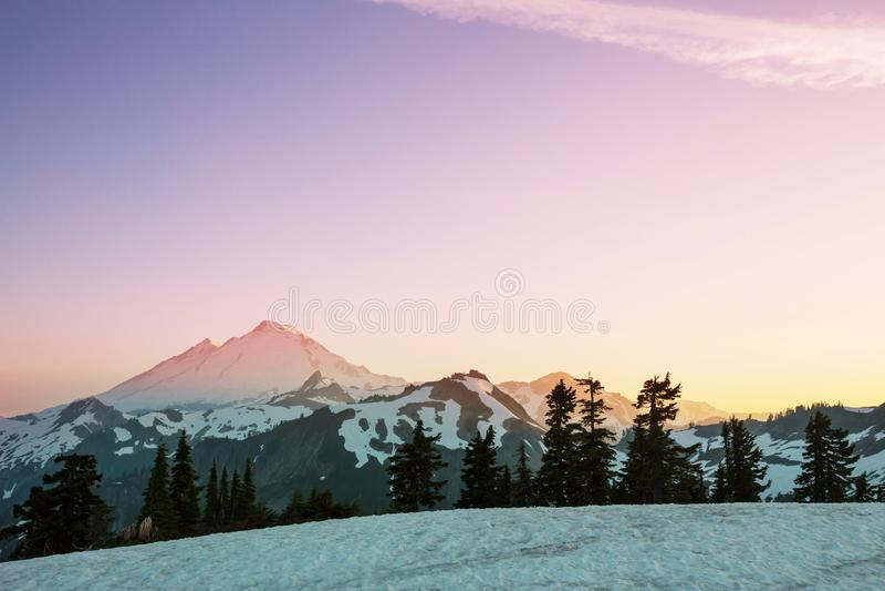 Mt Baker Area. Mt. Baker recreation area, Washington, USA stock photos