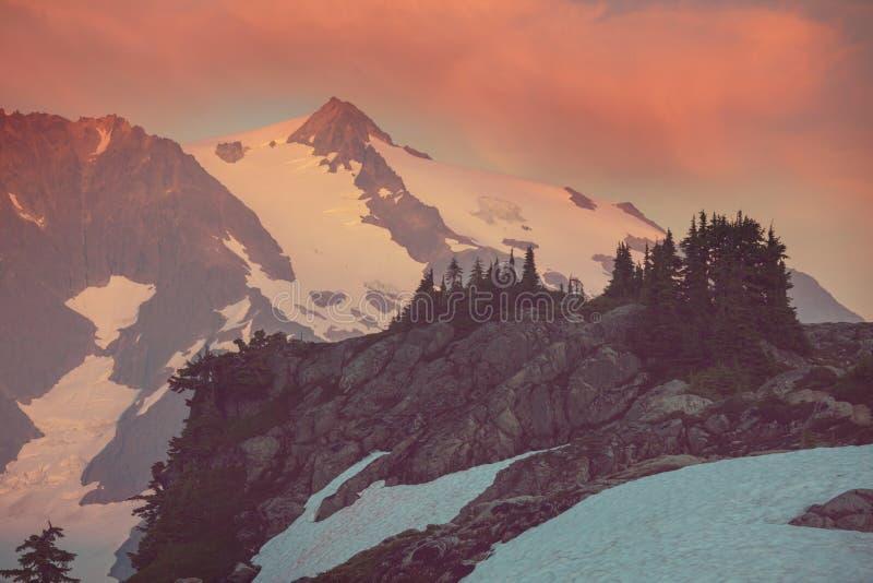 Mt Baker Area. Mt. Baker recreation area, Washington, USA stock photo
