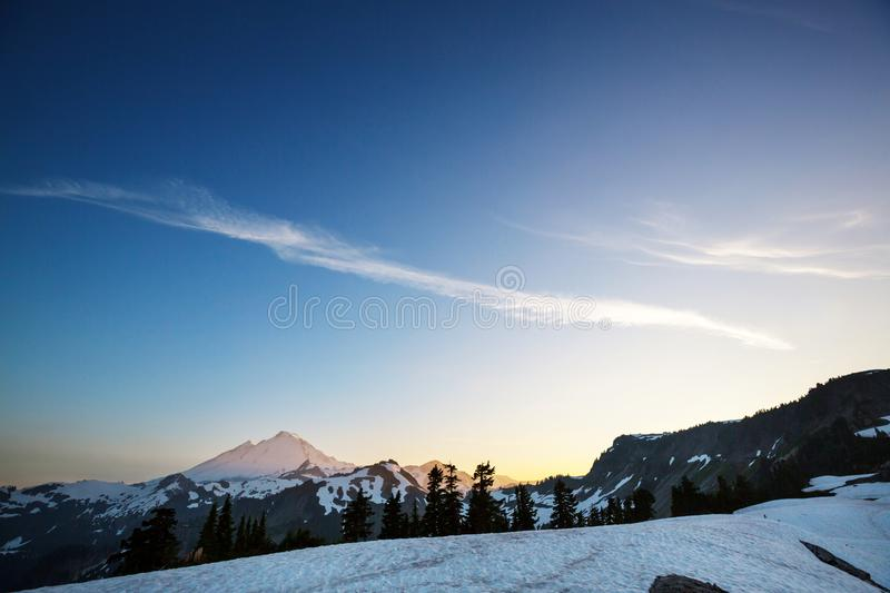 Mt Baker Area royalty free stock photography