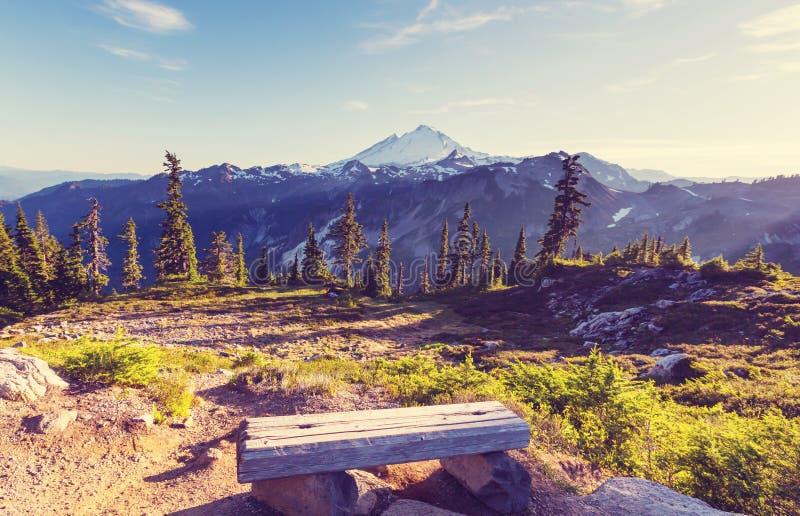 Mt.Baker Area. Mt.Baker recreation area, Washington, USA stock image