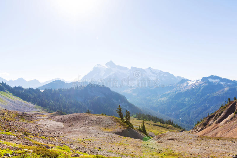 Mt Baker Area. Mt. Baker recreation area, Washington, USA royalty free stock image